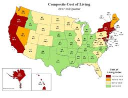 cost of living third quarter 2017