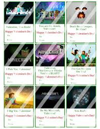minecraft s day cards minecraft valentines day cards sheet 5 instant or printed