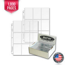 1000 pocket photo album 100 bcw heavy vinyl 9 pocket trading card album pages 1 binder