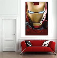 online get cheap wall paint pattern aliexpress com alibaba group 2016 1 piece marvels avengers ironman poster sticker wall decorations living room art picture paint on