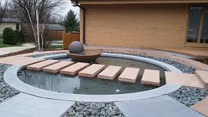 modern water features impressive water feature brings modern zen to a front entryway