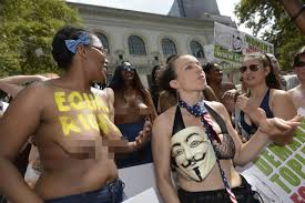 women s bare 300 protesters march to support times square women ny