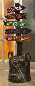cool yard sign spooky yard stake rustic wooden material