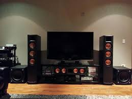 floor standing speakers for home theater klipsch rf 83 floorstanding speakers and rc 64 center u003d sold