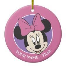 minnie mouse ornaments keepsake ornaments zazzle