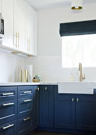 Navy Blue And White Bathroom by Have You Considered Using Blue For Your Kitchen Cabinetry