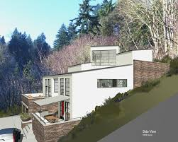 Modern Hillside House Plans Mcm Design Contemporary House 5 Exterior Views