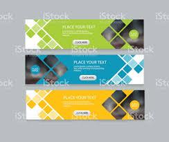 layout banner design flat vector set abstract corporate business horizontal banner design
