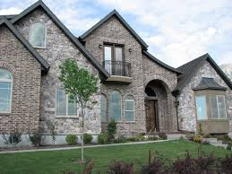 rock brick combination exterior home home improvement brick