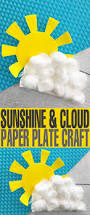 sunshine and cloud paper plate craft frugal mom eh