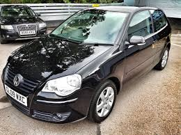 black volkswagen polo volkswagen polo match 1 2 petrol 3dr black 2009 for sale at