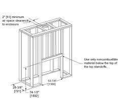 Standard Fireplace Dimensions by Castlewood Wood Fireplace Heat U0026 Glo