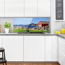 fond de cuisine bilderwelten crédence en verre in panorama