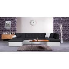 canapé panoramique tissu finlandek canapé panoramique convertible levea 7 places tissu noir