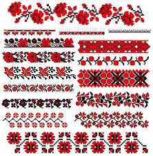 ukrainian ornaments ukraine style fabric ornaments vector graphics 07 vector frames