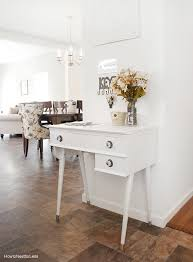 White Foyer Table with Kitchen Landing Table How To Nest For Less