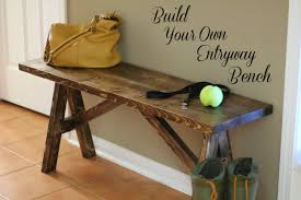 turtles and tails build your own entryway bench and shelf
