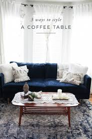 Styling Room 3 Ways To Style A Coffee Table Aol Lifestyle
