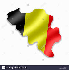 belgium map outline belgium country map outline with national flag inside stock photo