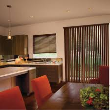 interior brown vertical window coverings for sliding glass doors