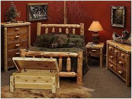 Pine Bedroom Furniture Sets Bedroom Bed With Railing Footboard Rustic Natural Cedar