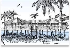 small beach house on stilts piling pier stilt houses hurricane coastal home plans