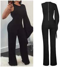 s one jumpsuit she is boom black one arm jumpsuit she is