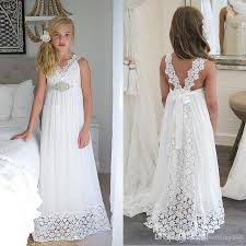 simple communion dresses 2018 simple white chiffon lace flower dresses holy
