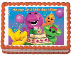 Barney Party Decorations Barney Birthday Etsy