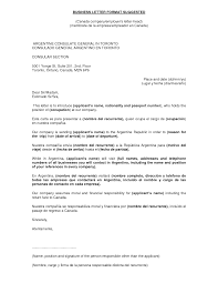 Business Letter Example For Students by Enticing Business Later Format Suggested And Argentine Consulate