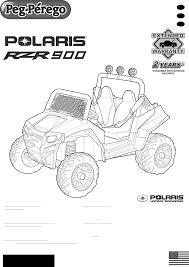 peg perego children u0027s riding vehicle polaris rzr 900 camo use and