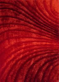3d red living room shag area rug 5 u0027x8 u0027 hand tufted