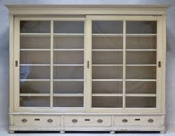 Glass Bookcase With Doors by Elegant Bookcase With Sliding Glass Doors France Early 20th
