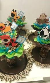 Safari Baby Shower Centerpiece by Ballon Flower Pot Centerpiece I Am Doing This For My Daughters
