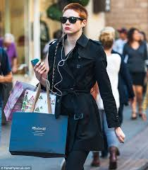 hair buzzed and growing out stages pics karen gillan sports red buzz cut hair out shopping in la daily