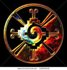 hunab ku galactic butterfly mayan symbol of galaxy stock