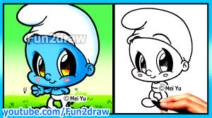how to draw cartoons smurf funny extra drawing cute art