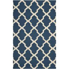 Navy Blue And Beige Area Rugs by Shop Safavieh Cambridge Navy Blue And Ivory Rectangular Indoor