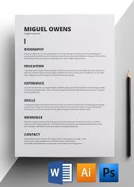 minimalist resume template creative free printable resume