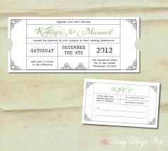 Wedding Invitations And Rsvp Cards Wedding Invitation Vintage Train Ticket Invitation And Rsvp
