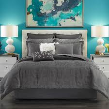 Kinsley Chevron Bedroom Set Gray Candice Olson Arabesque Charcoal Comforter Set Beddingstyle