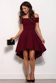party dress the shouler prom dress burgundy party dresses hi low party