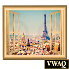 Eiffel Tower Wall Decals Paris France Wall Decal Eiffel Tower Mural Peel And Stick Window