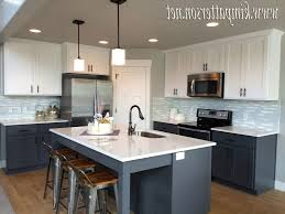 Spray Painting Kitchen Cabinet Doors Gray Kitchen Cabinets With Black Counter White Spray Paint Wooden
