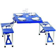 traveling portable plastic folding picnic tables with aluminium
