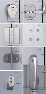 Toilet Partition Aogao 88 Series Stainless Steel 304 Toilet Partition Accessories
