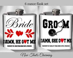 and groom flasks sale set of 2 flasks hubby and flask set and