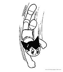astro boy color cartoon color pages printable cartoon