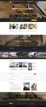 builder construction html template on behance