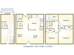 1 3 bed apartments coolidge place